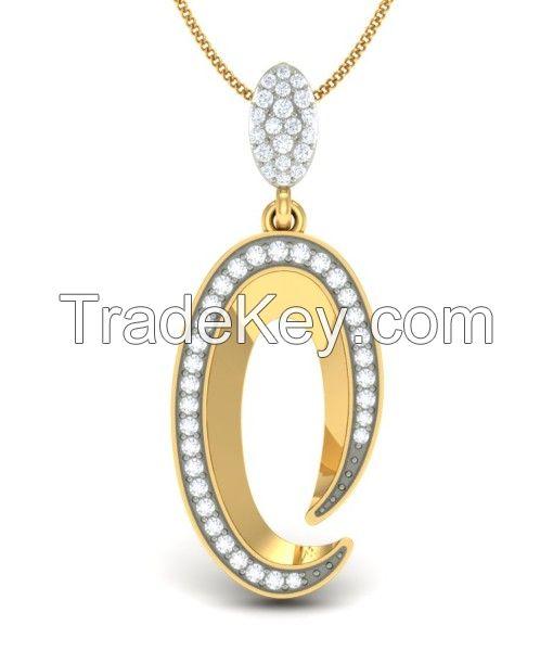 The Eyellet Diamond Pendant Set