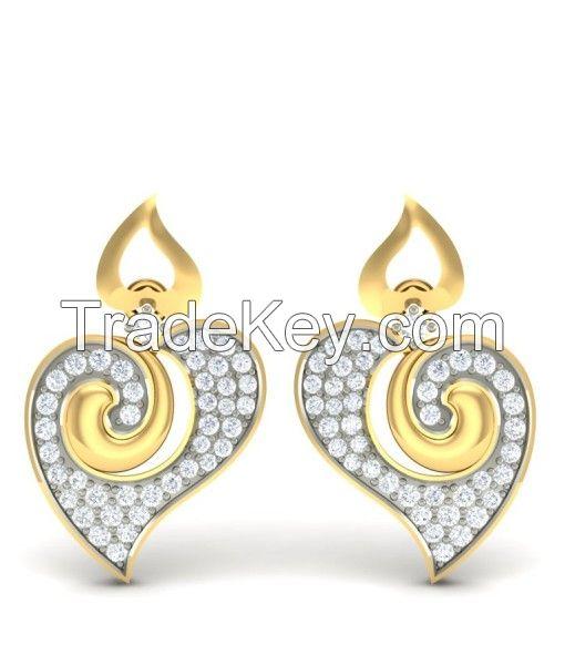 Get the Twin Heart Diamond Earrings Online