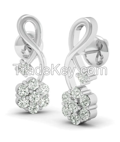 Get the Little Flower Silver Jewellery Earrings online