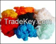 Virgin or Recycle Dope Dye Color Polyester Staple Fiber