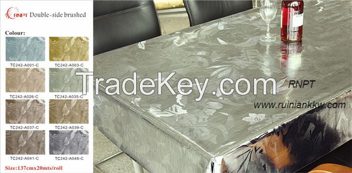 Deluxe water -proof, openhanded Brushed metallic table cloth, popular in South America