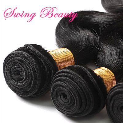 100% Virgin Unprocessed Indian Natural Human Hair Weft Body Wave Weaving Bundles