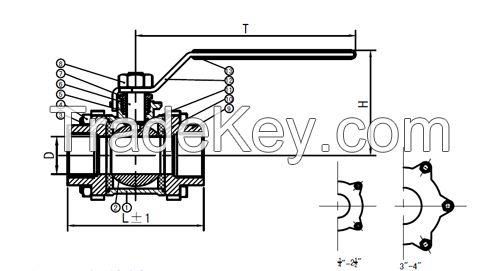 Stainless steel ball valve-3PC ball valve