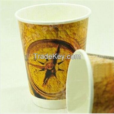8oz single wall paper coffee cups for hot drink nestle coffee pe material pe paper cup good quality cheap low price