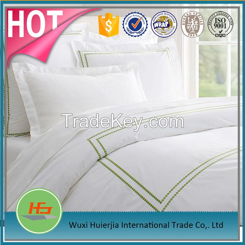 Star Hotel White Embroidered Cotton Duvet Cover