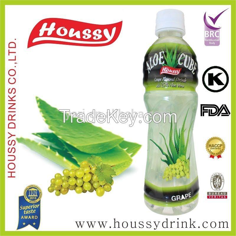 [Houssy Aloe Vera Juice] Kosher Peach and Blueberry Flavor Aloe Soft Drink