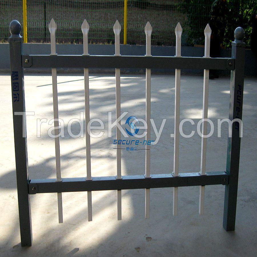 Used Powder Coated Galvanized Steel Fencing Euro Palisade Fence