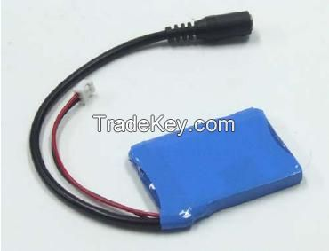 1S1P 3.7V 1000mAh Li Ion Battery Pack