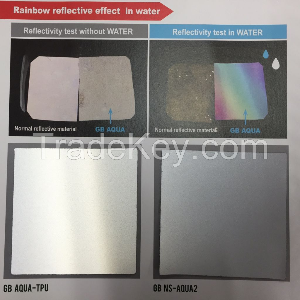 GB AQUA ; REFLECTION IN THE WATER (REFLECTIVE MATERIAL)