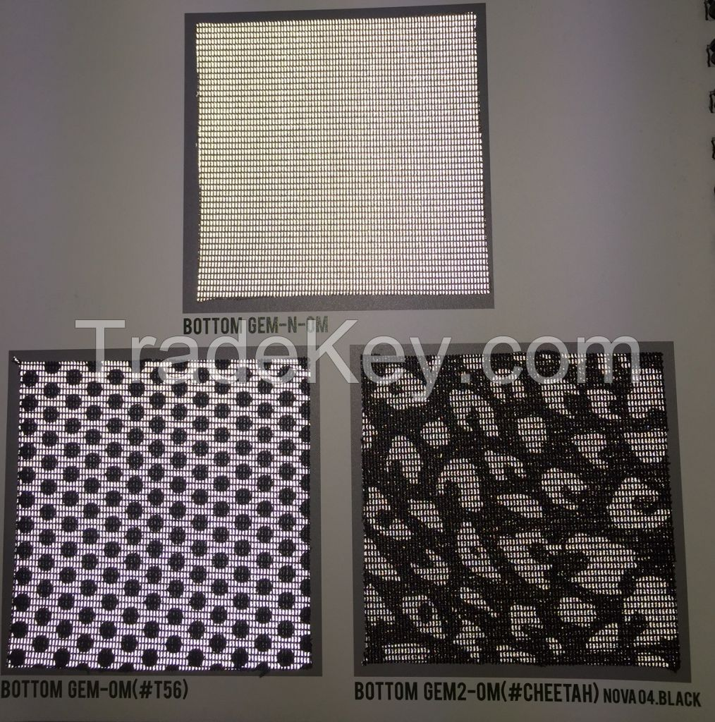 BOTTOM GEM ; MESH REFLECTIVE MATERIAL (TEXTILE PACKAGED)