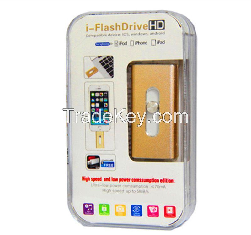 Real capacity 8GB-16GB-32GB-64GB OTG USB3.0 Flash Drives Memory sticks For iPhone 6s 5 iPad iPod 8pin i flash drive OTG U Disk
