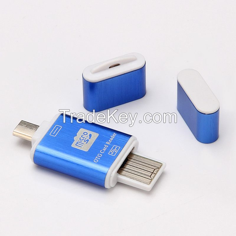 2 in 1 OTG Card reader USB Male To Micro USB OTG Adapter With TF/SD Card Reader For Android Smartphone Tablet