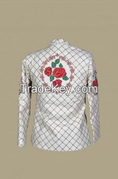 JW 79 - Organic off white hand embroidered jacket