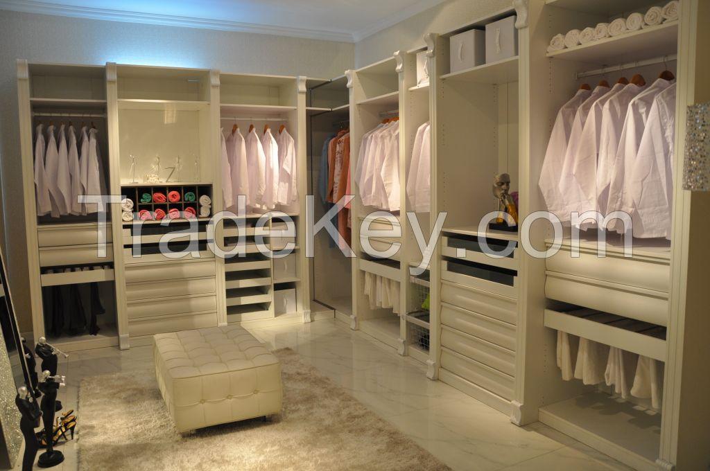 American Popular Style White Color Armoire modern cheap furniture design
