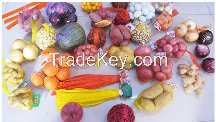PE garlic mesh bag/small fruit mesh bag/vegetable mesh bag