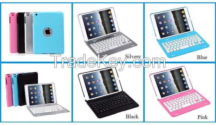 For iPad Mini Aluminum Bluetooth Keyboard Cases Cover