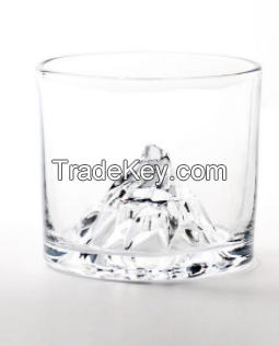 Special China Factory Popular Glass Stemless Mountain Whisky Glass