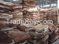 Dried salted  Cattle hides