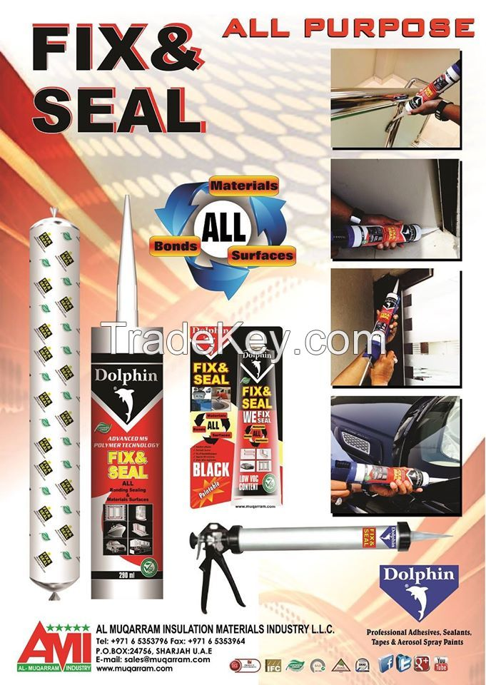 DOLPHIN BRAND SILICONE SEALANTS ,ADHESIVES TAPES, AEROSOL SPRAY PAINTS