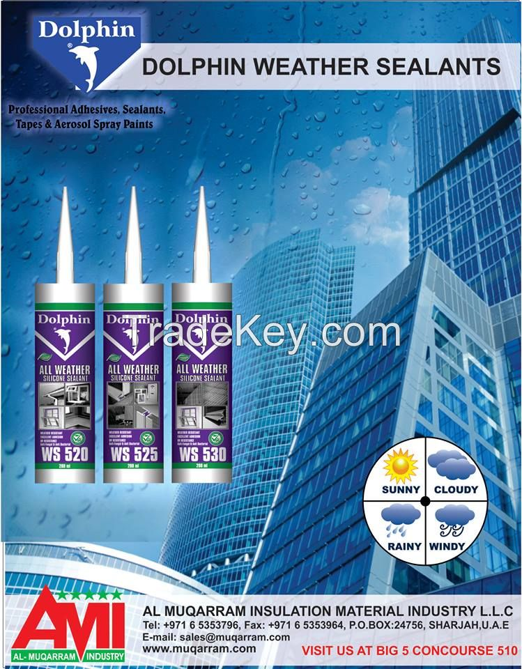 DOLPHIN ACETOXY SEALANTS/DOLPHIN ACRYLICS SEALANTS/ DOLPHIN ALL WEATHER SEALANTS/ DOLPHIN HYBRID SEALANTS