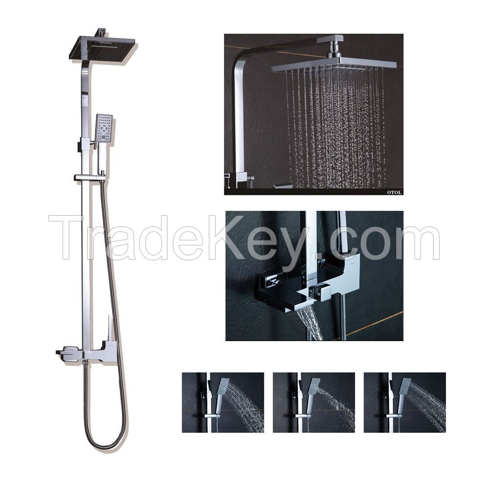 OTOL Classic Stainless Steel Wall Mounted bathroom Waterfall Shower Set