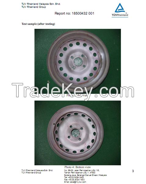 Hanvos TUV Certified European painted E-plated trailer wheels and snow wheels