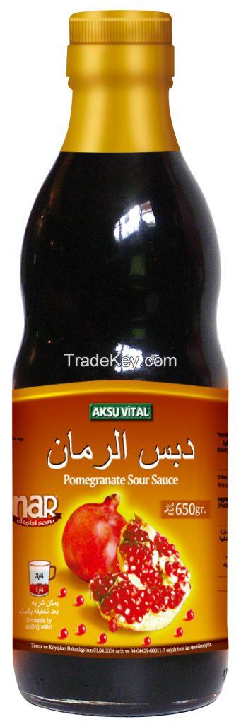 Natural Pomegranate Sauce, Sour Sauce for Salad Dressing