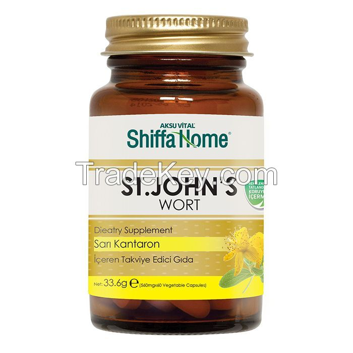 St. John's Wort Herb Extract Capsule / Anti Stress Health Food Supplement GMP Approved Herbal Medicine Anti Depressant