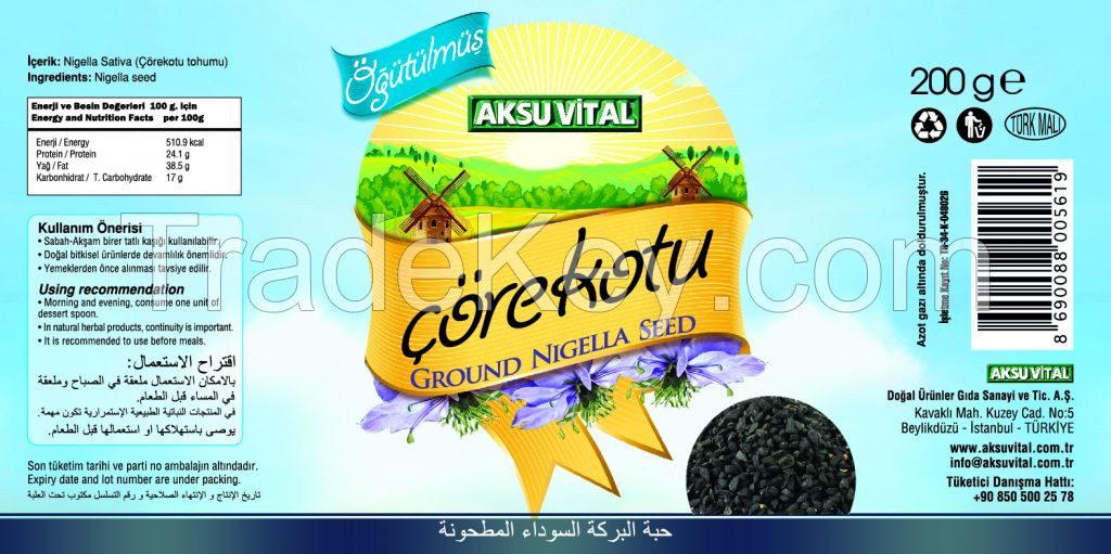 Ground Black Seed, Habbatus Sauda, Nigella Sativa
