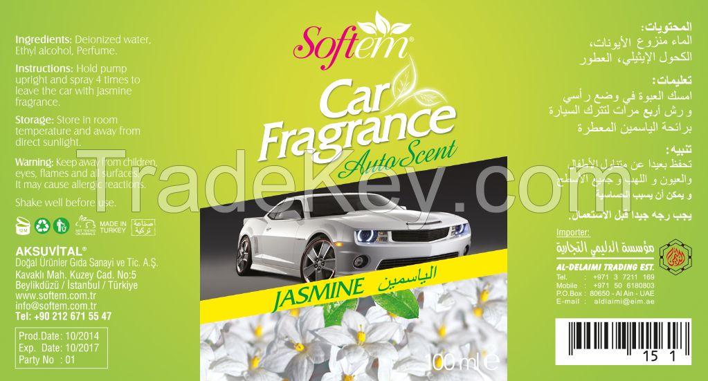 Air Freshener for Car / Auto Scent with Jasmine Flower / Spray Car Air Freshener