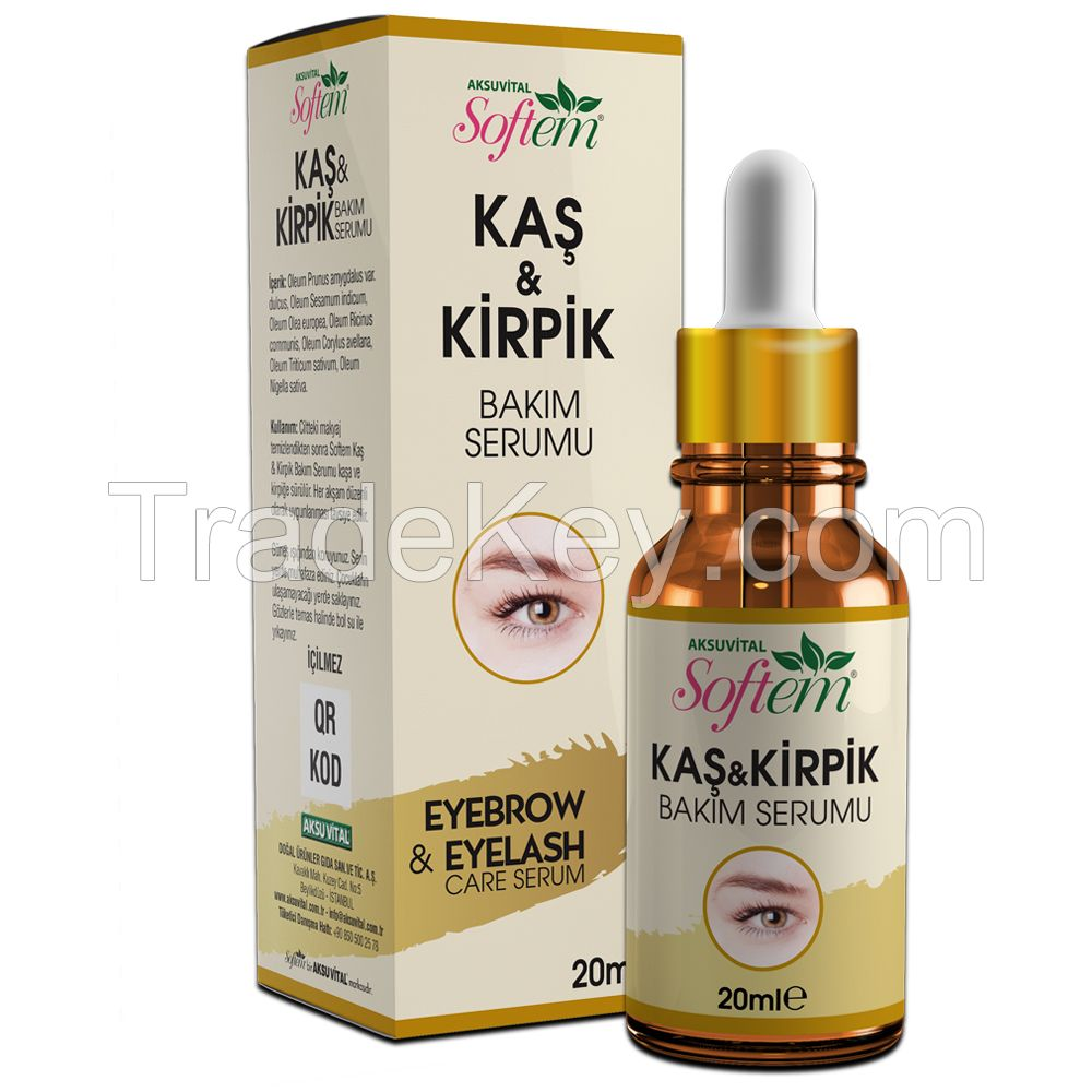 EYEBROWS AND EYELASHES Care Oil Natural Herbal Oil Mix Free Tweezers