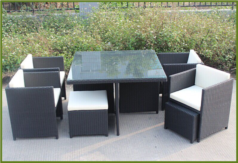 outdoor furniture garden table and chair set rattan furniture