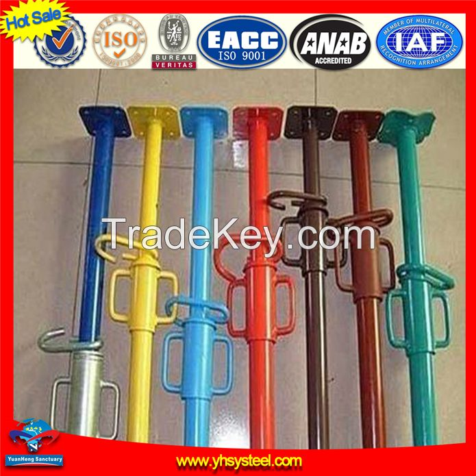 China formwork system manufacturer dip painted scaffolding steel prop