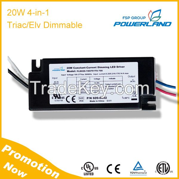 20W 4 in 1 Traic/ELV Dimming LED Driver