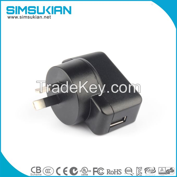 high demand 5v 1a usb wall mounted power adapter charger