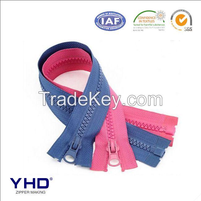 custom colorful resin zipper
