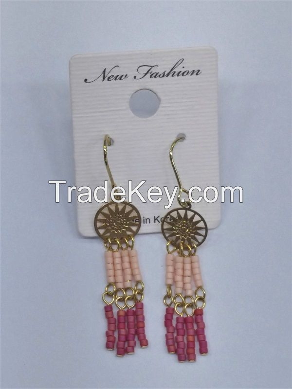 beads earring, Korea Agent, sun shape earring, mix color earring