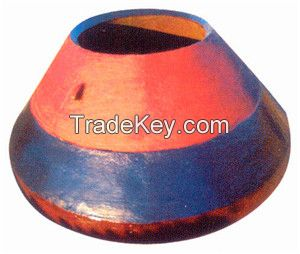 High manganese cone crusher spare parts crusher mantle