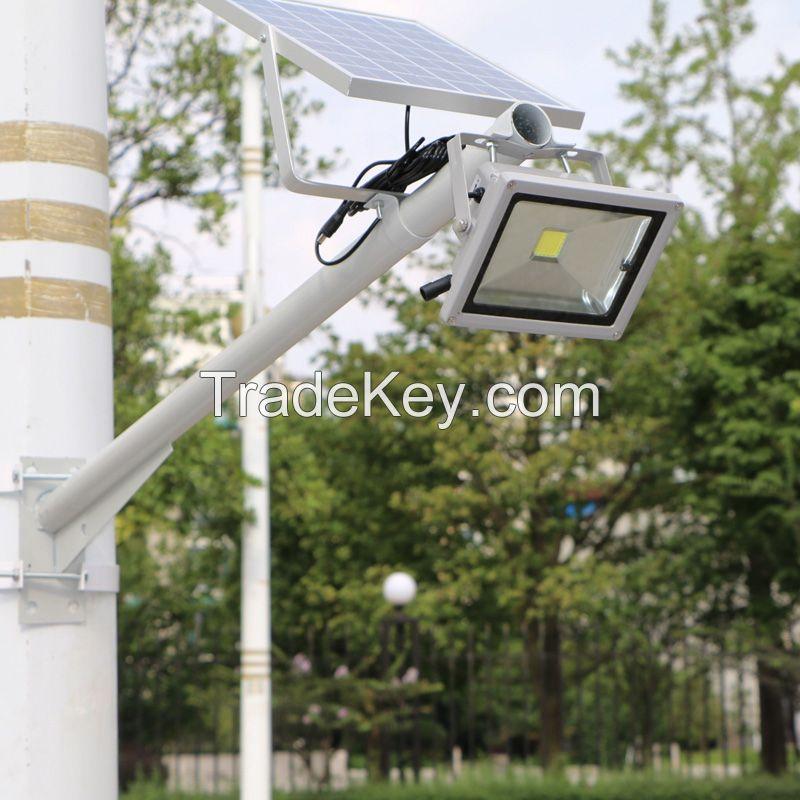 Solar Panel 20W Intelligent Control Light Sensor Waterproof Outdoor Fence Garden Pathway Wall Lamp Lighting