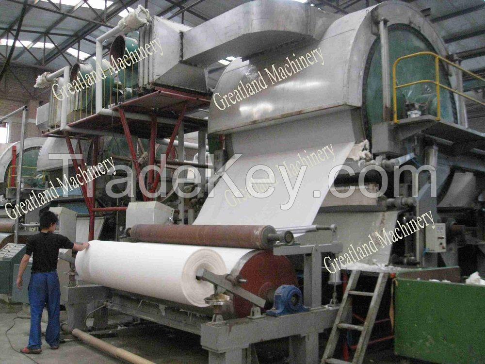 Single cylinder tissue machine