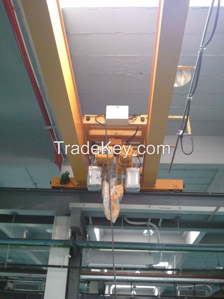 2 Ton Electric Trolley Type Crane Chain Hoist Suit For Jib Crane