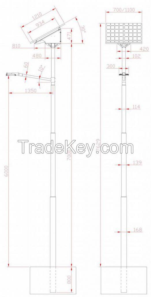 Streetlight Kit 24V Irradiation Group 4 W-Light 30 Angle 55