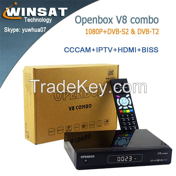 Last Version Full HD 1080P Openbox V8 Combo Satellite TV receiver with Internet interface