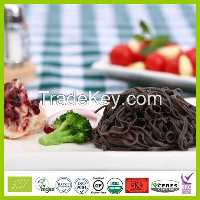 Gluten-free organic black bean pasta instant noodles