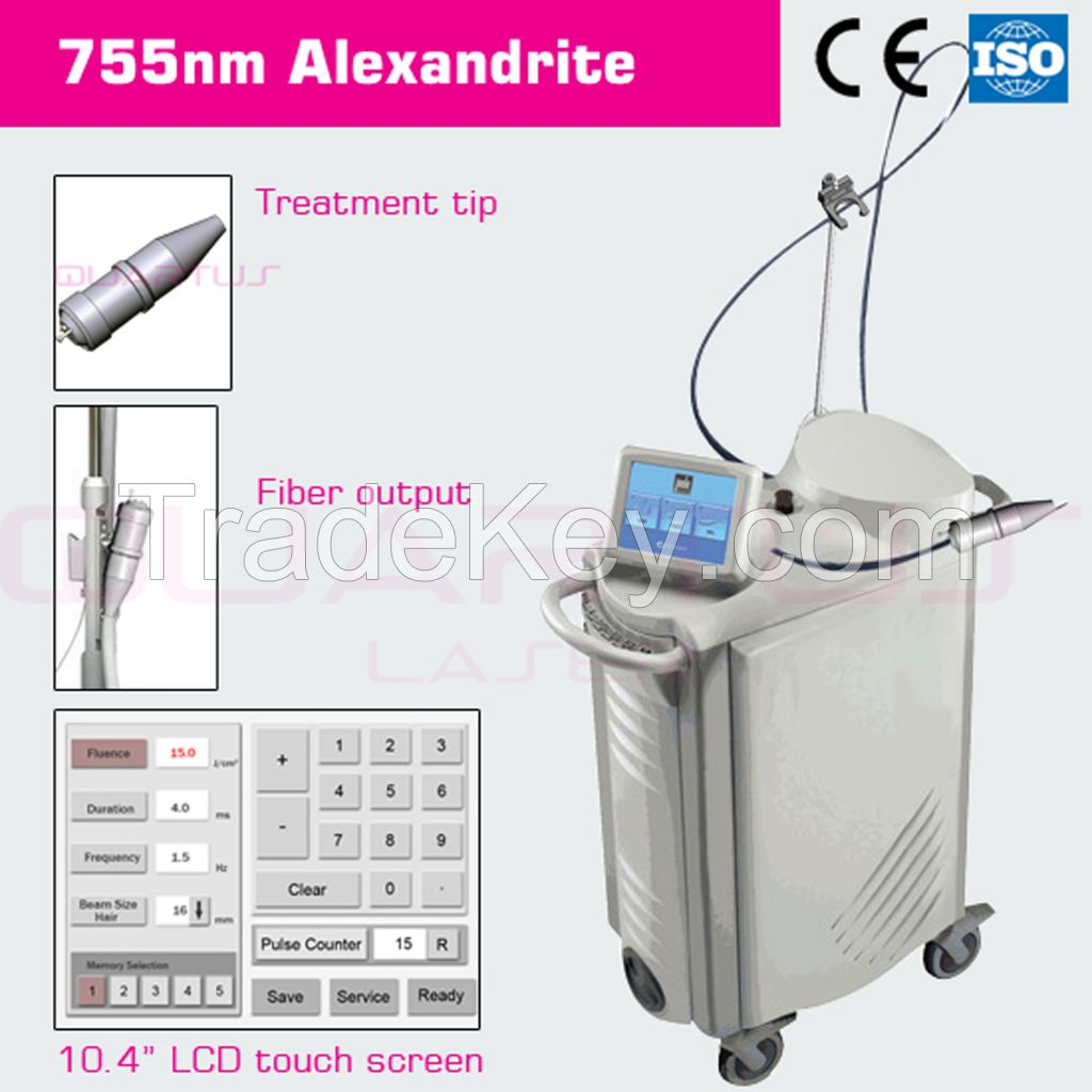 755nm Alexandrite laser for permanent hair removal