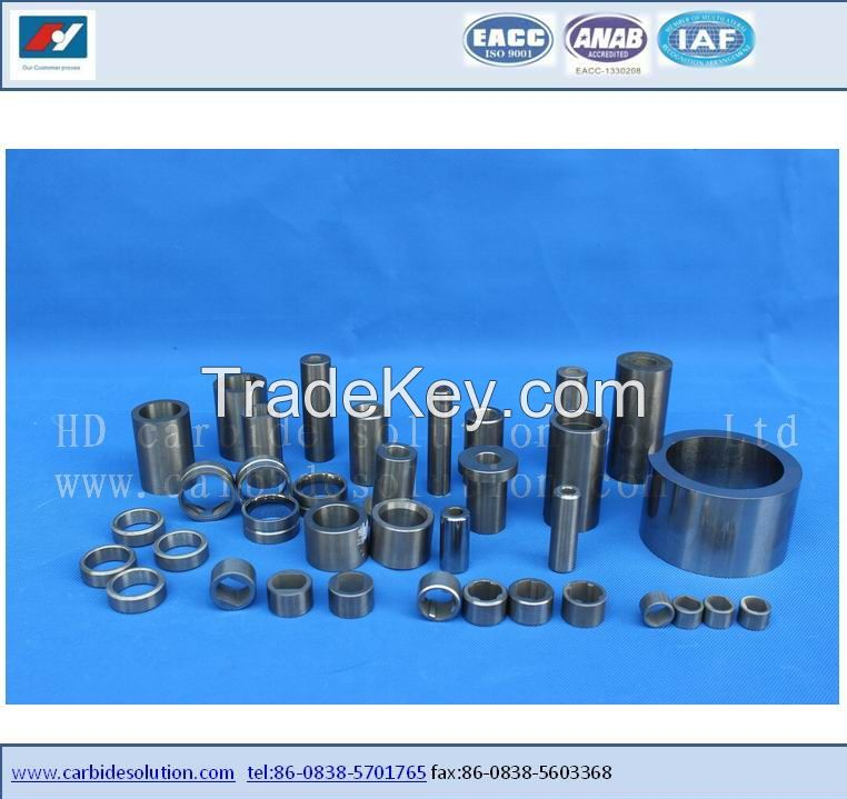 Tungsten carbide bearing bush and sleeve