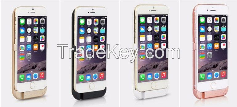 10000mAh Half A Pack Clamp Section Power Case For iPhone 6 6s External Battery Charger Case For 6 Plus/6S Plus