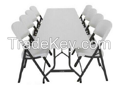 Modern Molded Folding Plastic Table with Chairs for Outdoor Wedding Evens