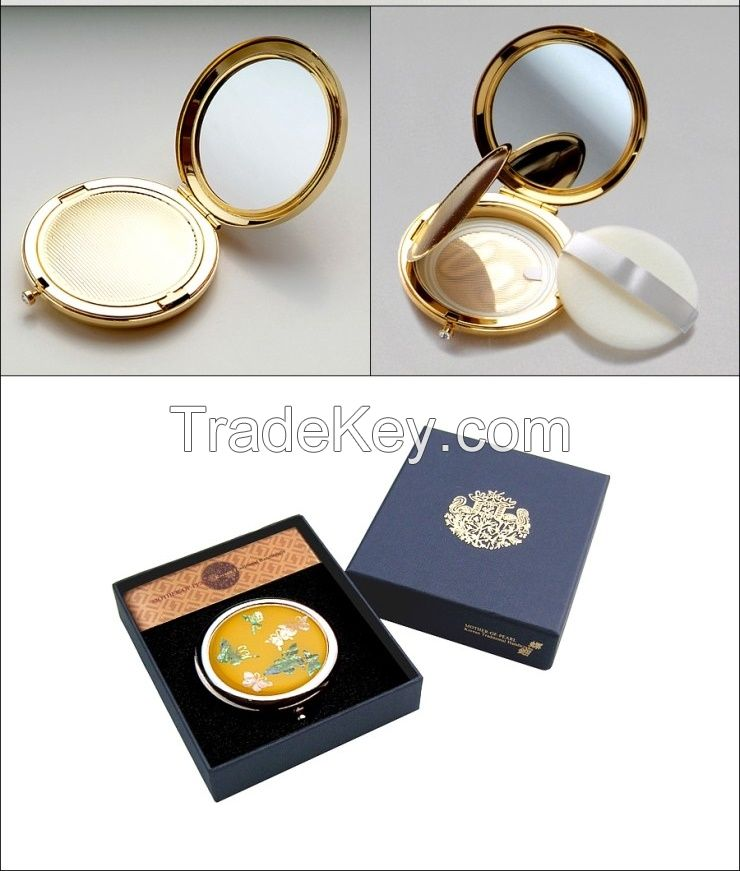 Inlaid with Mother of Pearl Paper Powder Puff -Butterfly, Korean Antique Mother of Pearl handcraft