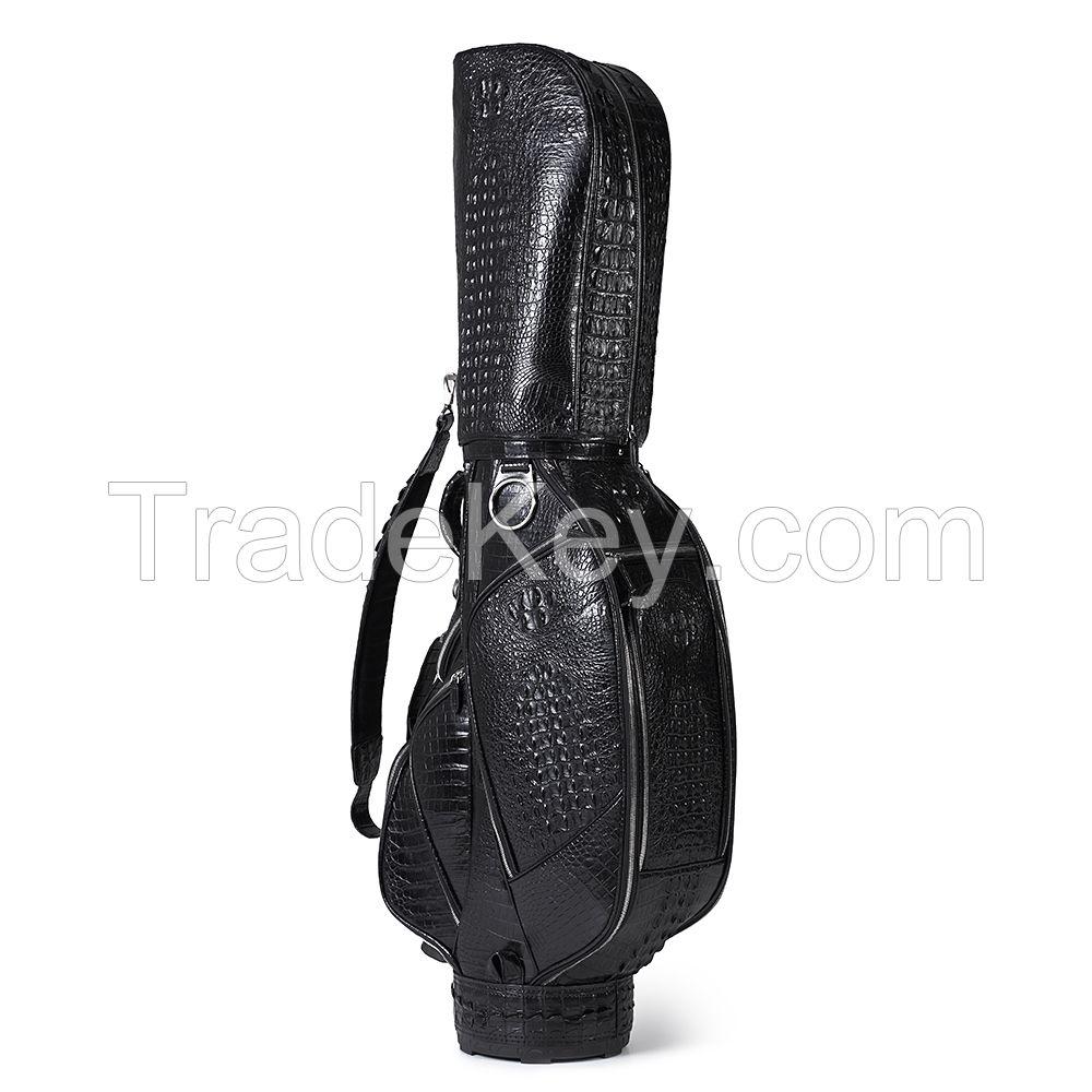 custom-made crocodile skin luxury golf bag